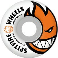 Spitfire Bighead Skateboard Wheels - white/orange (99d) - view large