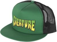 Creature Logo Mesh Trucker Hat - forest/black