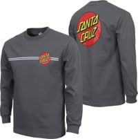 Santa Cruz Classic Dot L/S T-Shirt - charcoal