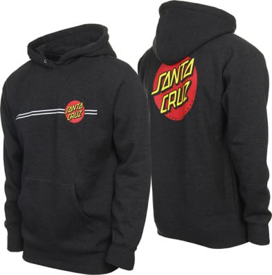 Santa Cruz Classic Dot Pullover Hoodie - charcoal heather - view large