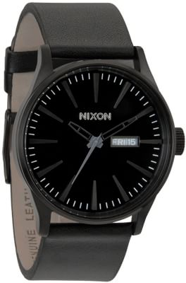 Nixon Sentry Leather Watch - all black - view large