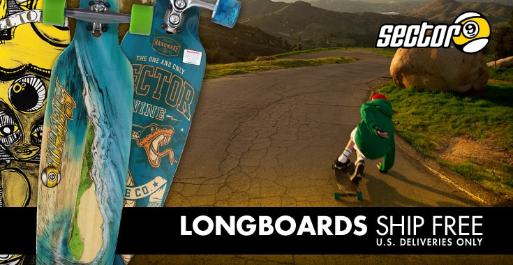Longboards Ship Free - U.S. Deliveries Only