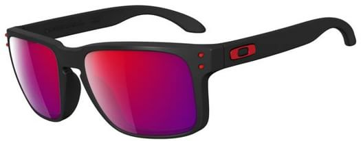 Oakley Holbrook Sunglasses - matte black/red iridium lens - view large