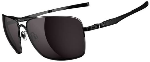 Oakley Plaintiff Squared Sunglasses - polished black/grey lens - view large
