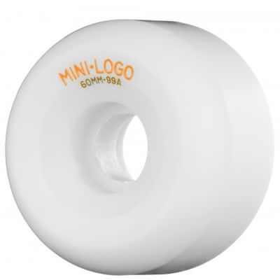 Mini Logo A-Cut Skateboard Wheels - white (99a) - view large
