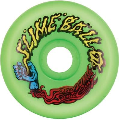 Santa Cruz SlimeBall Vomits Re-Issue Skateboard Wheels - neon green (97a) - view large