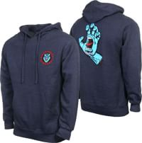 Santa Cruz Screaming Hand Pullover Hoodie - navy heather