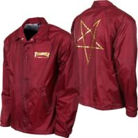 Thrasher Pentagram Coach Jacket - maroon