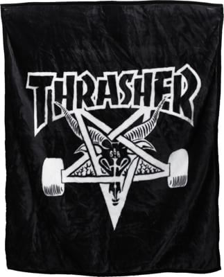 Thrasher Skate Goat Blanket - black - view large