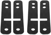 Loaded Drop-Thru Shock Pad Strips (Set Of 4) Skateboard Risers