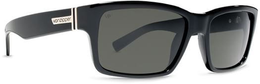 Von Zipper Fulton Polarized Sunglasses - black gloss/grey poly polar lens - view large