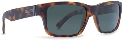 Von Zipper Fulton Polarized Sunglasses - tortoise satin/grey poly polar lens - view large