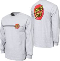 Santa Cruz Classic Dot L/S T-Shirt - athletic heather