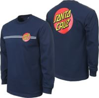 Santa Cruz Classic Dot L/S T-Shirt - navy