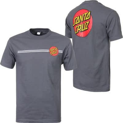 Santa Cruz Classic Dot T-Shirt - charcoal heather - view large