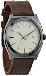 Nixon Time Teller Watch - gunmetal/brown
