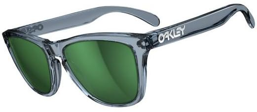 Oakley Frogskins Sunglasses - crystal black/emerald iridium lens - view large