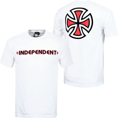 Independent Bar/Cross T-Shirt - white - view large