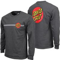 Santa Cruz Classic Dot L/S T-Shirt - charcoal heather