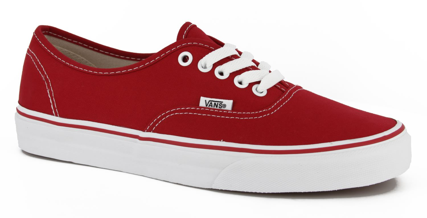 Vans Authentic Skate Shoes - red - view large