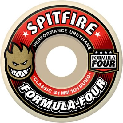 Spitfire Formula Four Classic Skateboard Wheels - white (101d) - view large