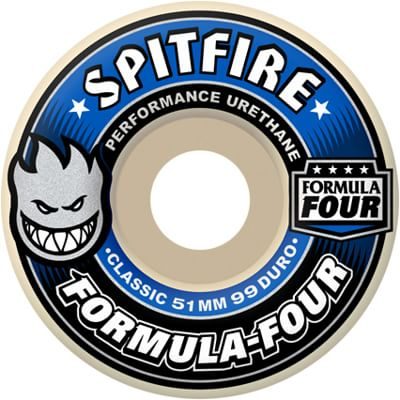 Spitfire Formula Four Classic Skateboard Wheels - white (99d) - view large
