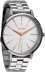 Nixon Kensington Watch - silver/champagne crystal