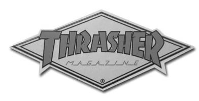 "Thrasher Diamond Logo 4.5"" Sticker - view large"