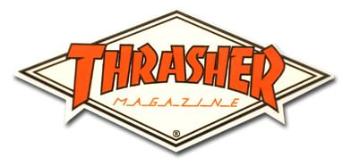 "Thrasher Diamond Logo 4.5"" Sticker - orange/white - view large"