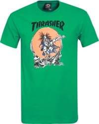 Thrasher Skate Outlaw by Pushead T-Shirt - kelly