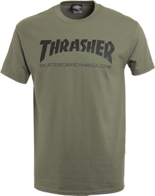 Thrasher Skate Mag T-Shirt - army - view large