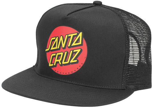 Santa Cruz Classic Dot Trucker Hat - black - view large