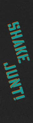 Shake Junt SJ Sprayed Skateboard Grip Tape - black/teal-orange spray - view large