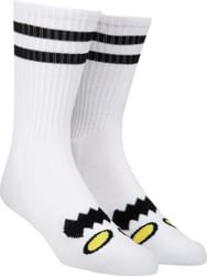 Toy Machine Monster Face Crew Sock - white