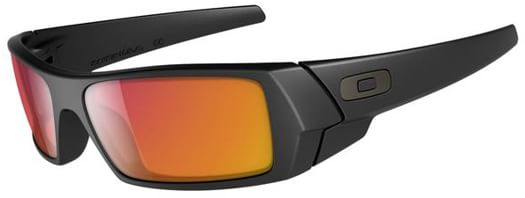 Oakley Gascan Sunglasses - matte black/ruby iridium lens - view large