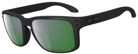 Oakley Holbrook Polarized Sunglasses - matte black/emerald iridium polar lens - view large