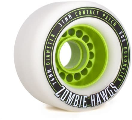 Hawgs Zombie Hawgs 76mm Longboard Wheels - white (80a) - view large