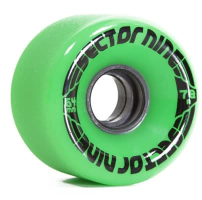 Sector 9 64mm Nineballs Longboard Wheels - green (78a) - view large