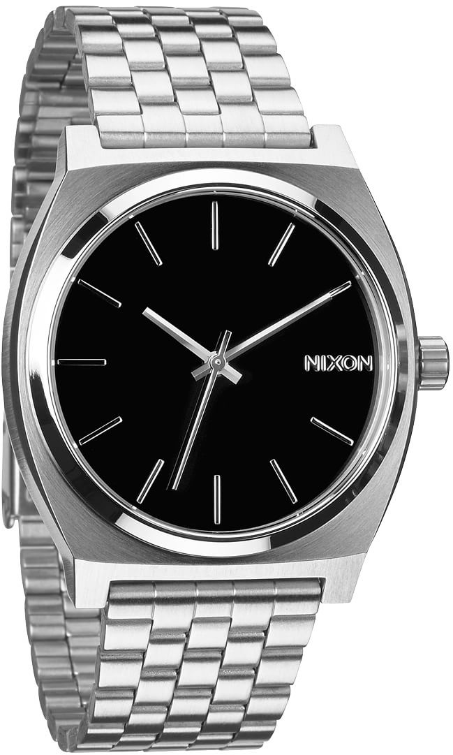 nixon time teller watch black free shipping