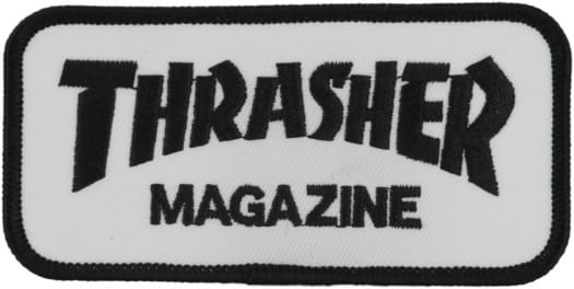 Thrasher Logo Patch - black/white - view large