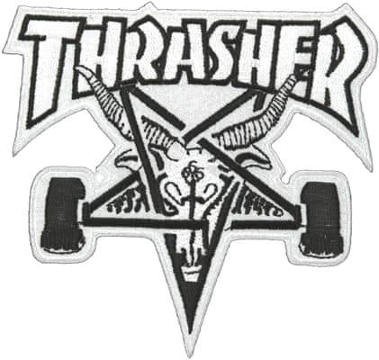 Thrasher Skate Goat Patch - black - view large