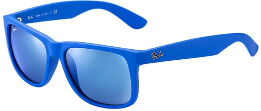 Ray-Ban Justin RB 4165 Sunglasses - 51mm blue rubber/blue mirror lens - view large