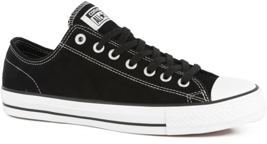 Converse Chuck Taylor All Star Pro Skate Shoes - black/white suede - view large