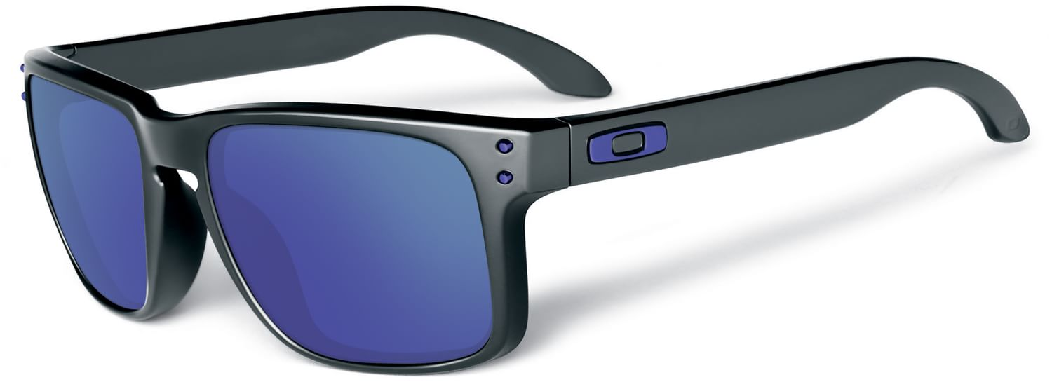 blue and white oakley sunglasses 1kj9  oakley holbrook violet iridium polarized