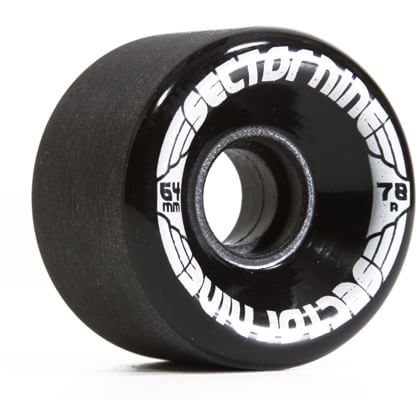 Sector 9 64mm Nineballs Longboard Wheels - black (78a) - view large