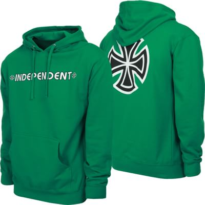 Independent Bar/Cross Hoodie - kelly green - view large
