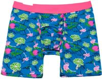 MyPakage Weekday Print Boxer Brief - hawaiian/pink