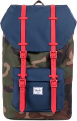 Herschel Supply Little America Backpack - woodland camo/navy/red rubber
