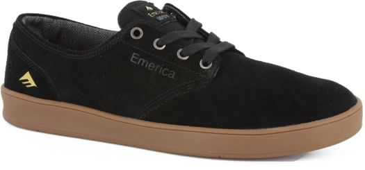 Emerica Romero Laced Skate Shoes - black/gum - view large