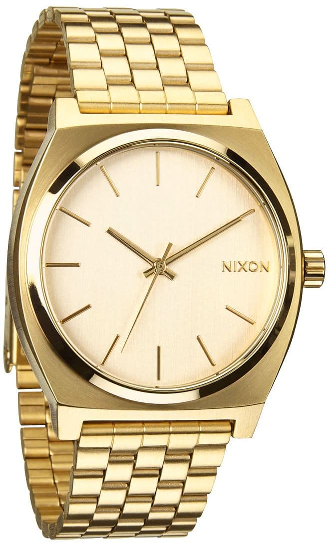nixon time teller all gold gold free shipping